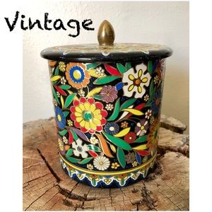 Colorful Vintage Dutch Canister/Tin